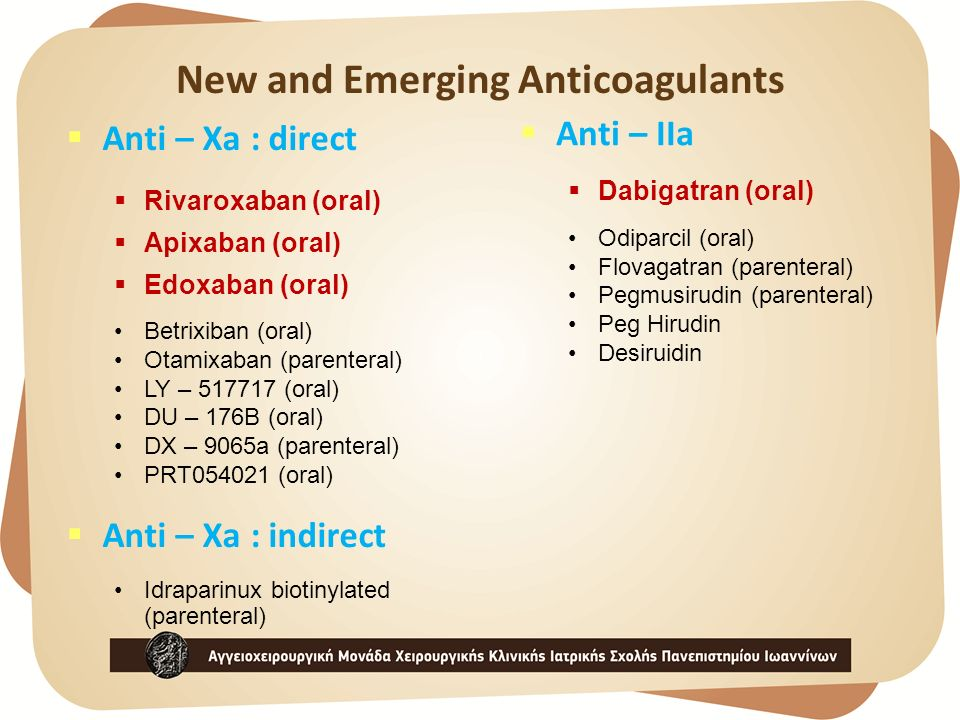 New and Emerging Anticoagulants