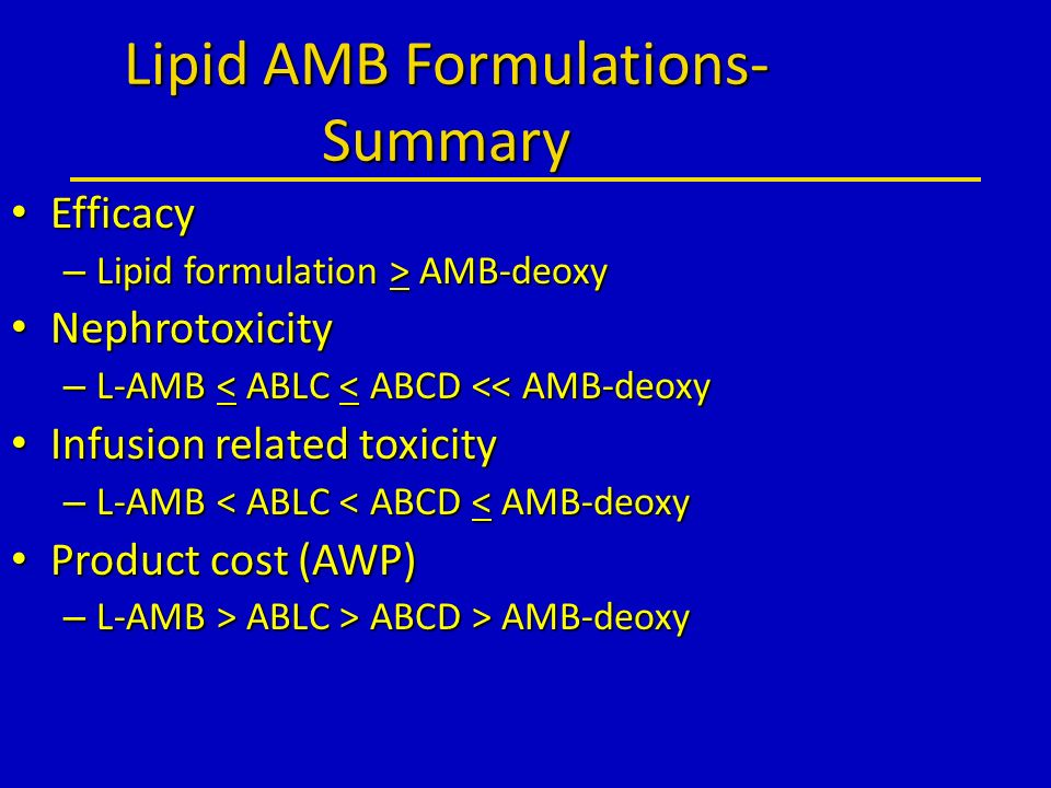 Lipid AMB Formulations-Summary