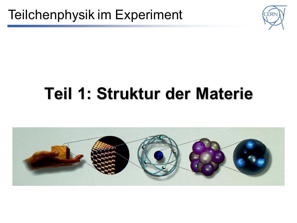 Teil 1: Struktur der Materie