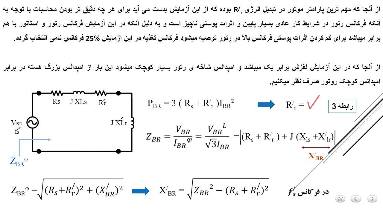 = (Rs + R/r ) + J (Xls +X/lr)