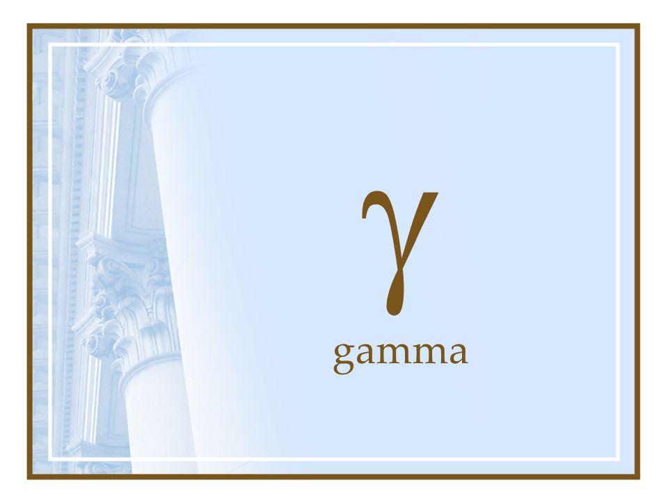 g gamma