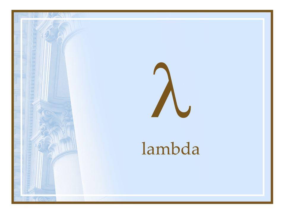 l lambda