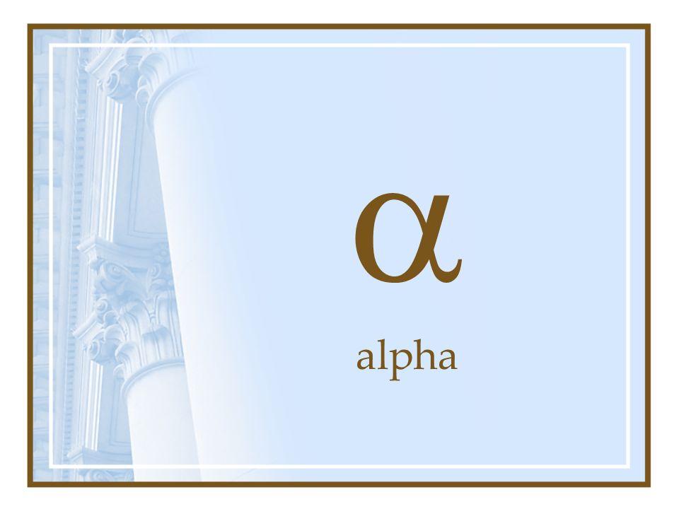 a alpha