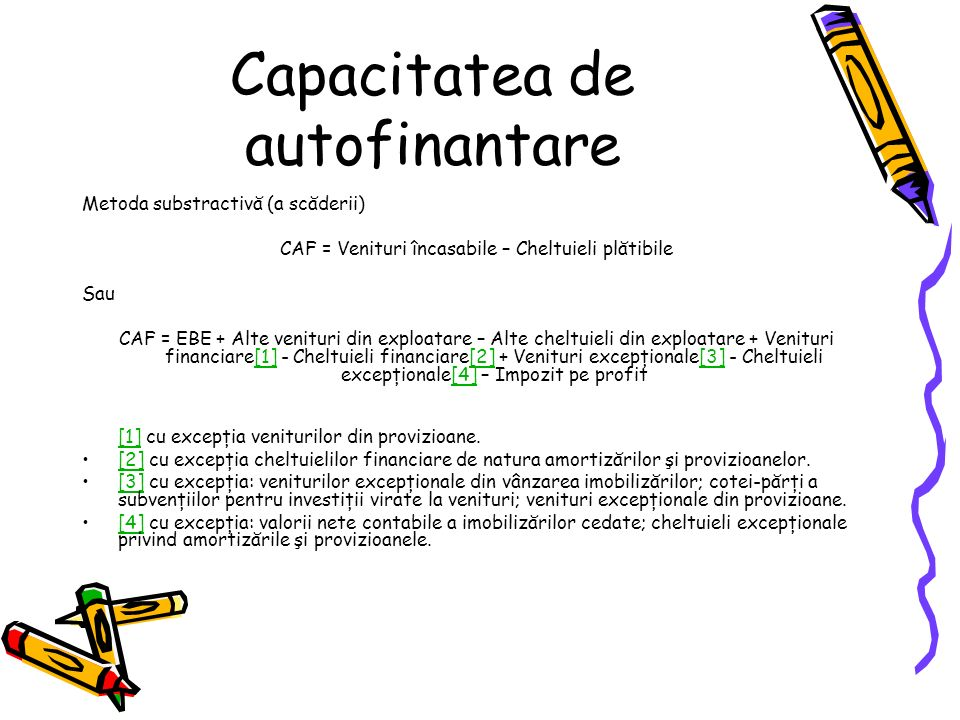 Capacitatea de autofinantare