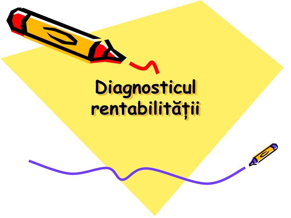 Diagnosticul rentabilităţii