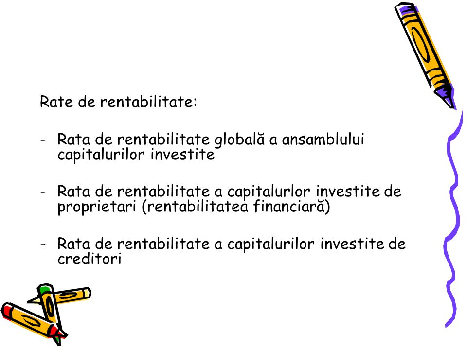 Rate de rentabilitate: