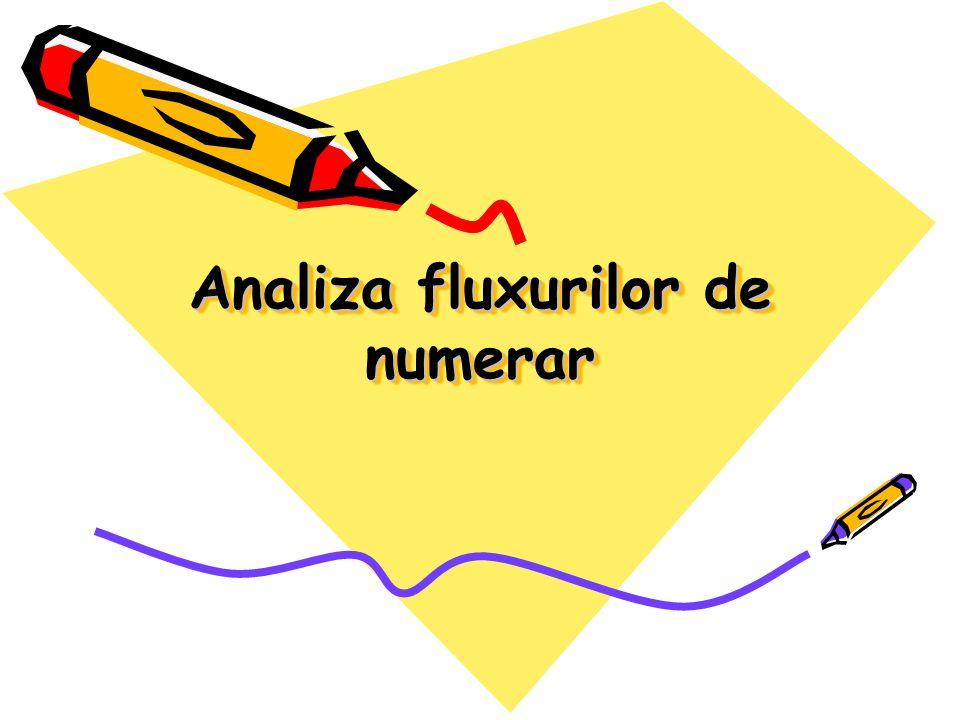 Analiza fluxurilor de numerar