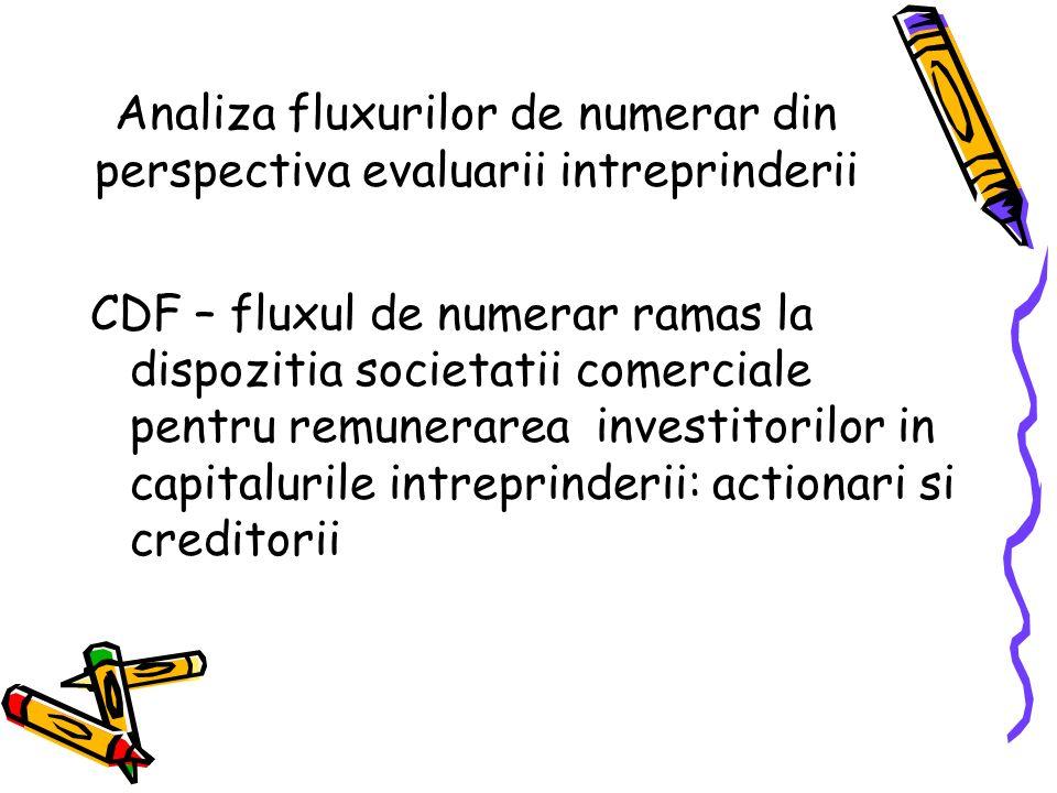 Analiza fluxurilor de numerar din perspectiva evaluarii intreprinderii