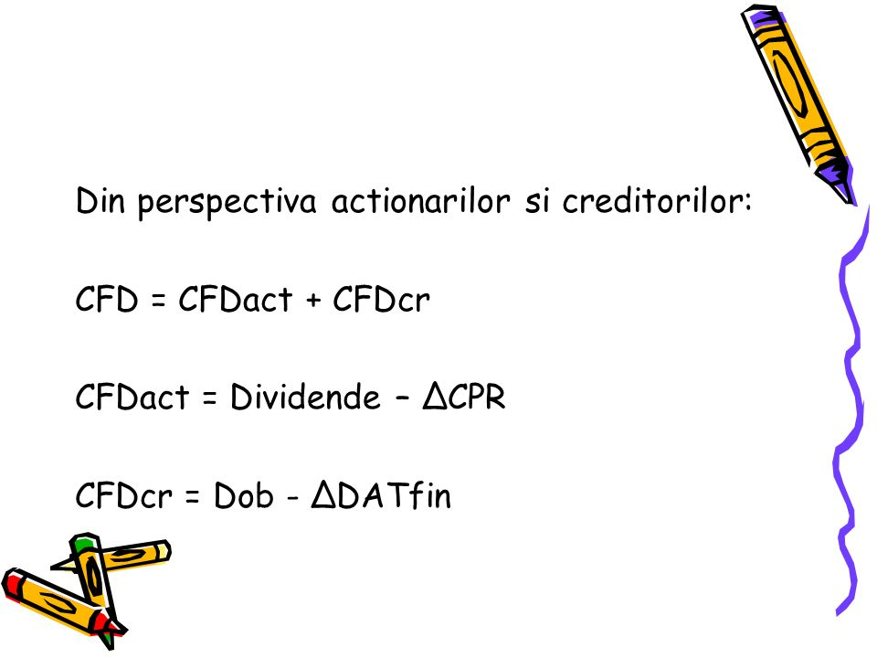 Din perspectiva actionarilor si creditorilor: