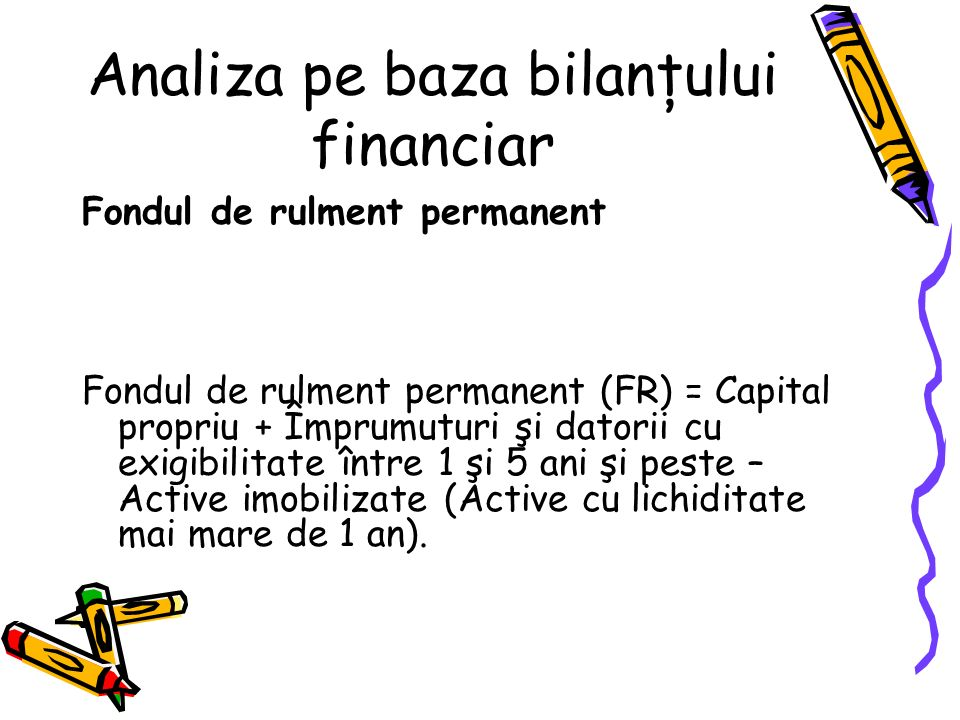 Analiza pe baza bilanţului financiar