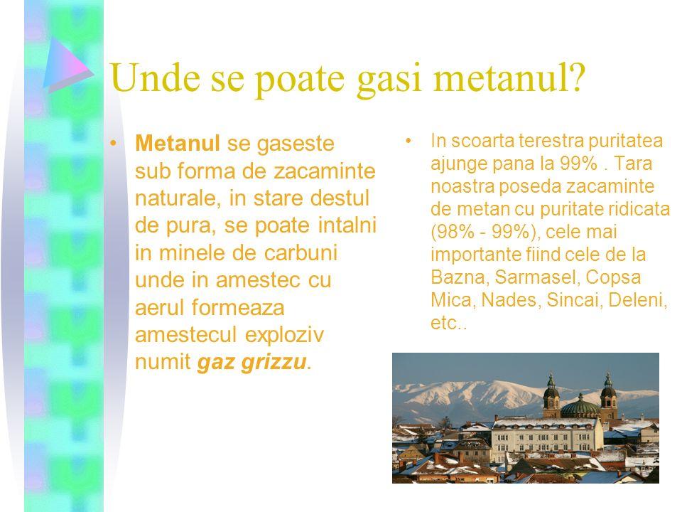 Unde se poate gasi metanul
