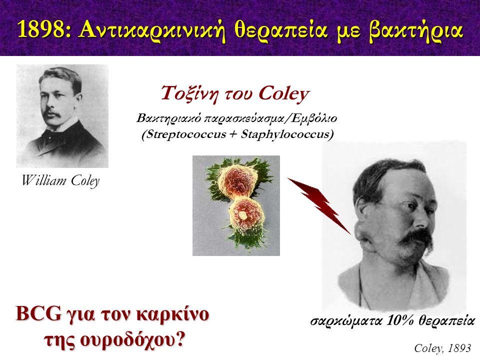 1898: Αντικαρκινική θεραπεία με βακτήρια