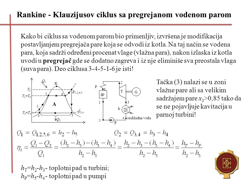 Rankine - Klauzijusov ciklus sa pregrejanom vodenom parom