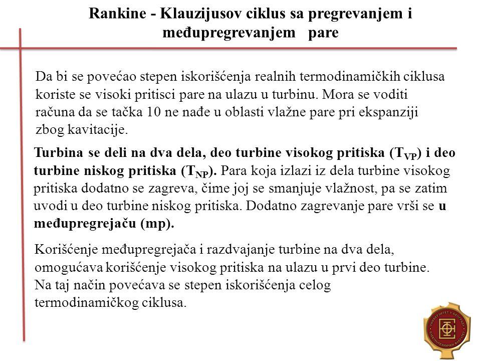 Rankine - Klauzijusov ciklus sa pregrevanjem i međupregrevanjem pare