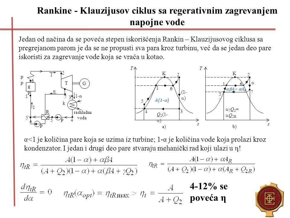 Rankine - Klauzijusov ciklus sa regerativnim zagrevanjem napojne vode