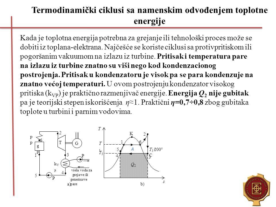 Termodinamički ciklusi sa namenskim odvođenjem toplotne energije