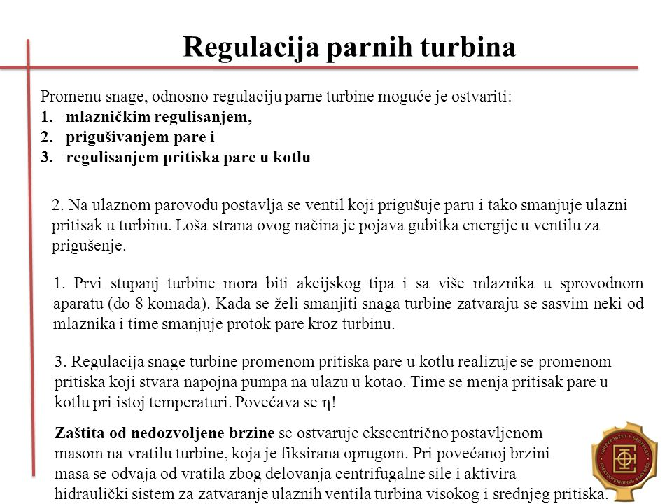 Regulacija parnih turbina