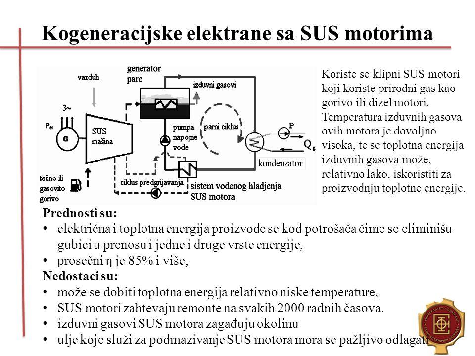 Kogeneracijske elektrane sa SUS motorima