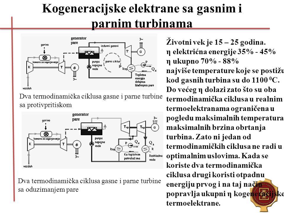 Kogeneracijske elektrane sa gasnim i parnim turbinama
