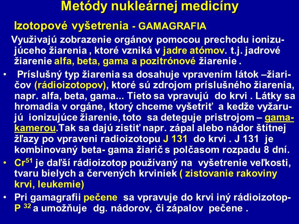 Metódy nukleárnej medicíny