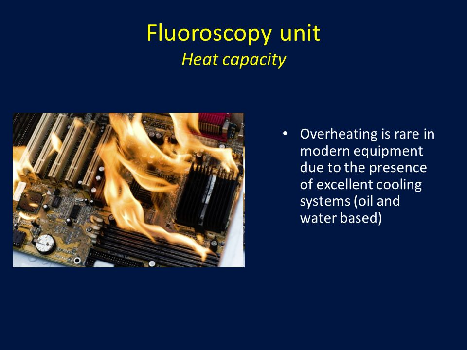 Fluoroscopy unit Heat capacity