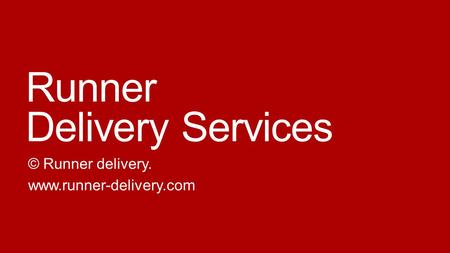 Runner Delivery Services