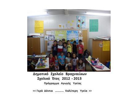 Δημοτικό Σχολείο Βραχναιίκων Σχολικό Έτος 61624ccc23f