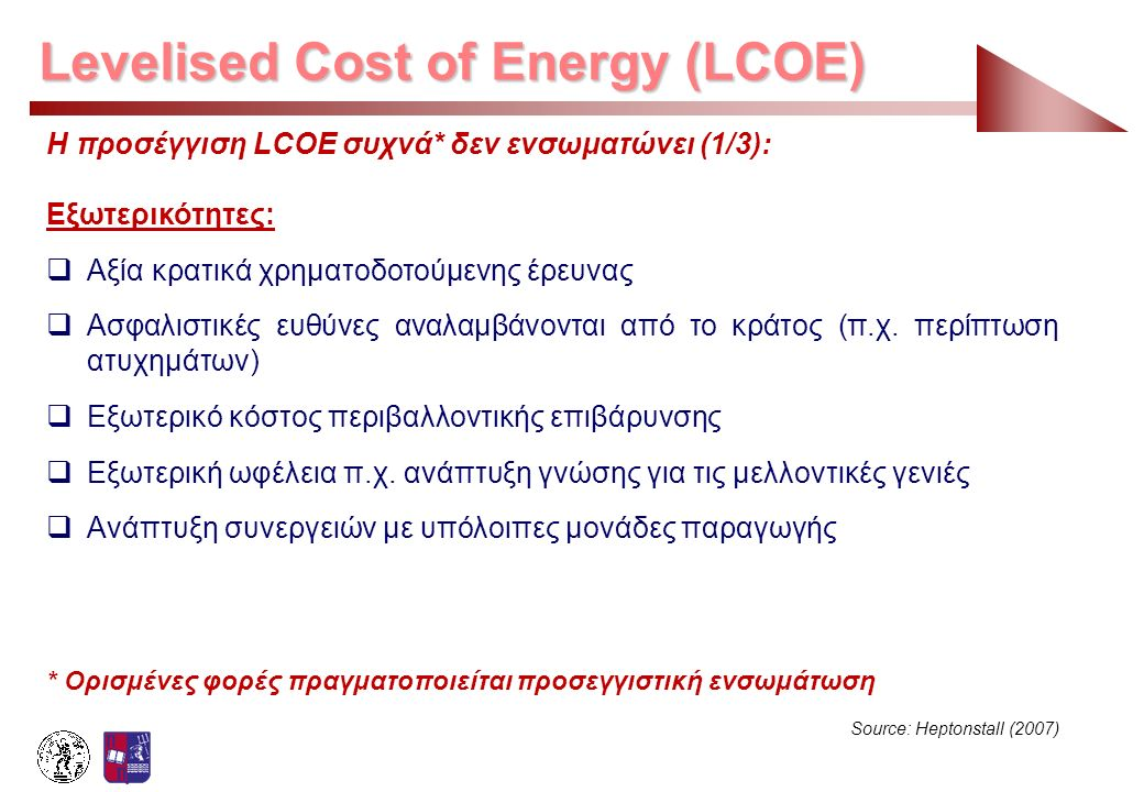 Levelised Cost of Energy (LCOE)
