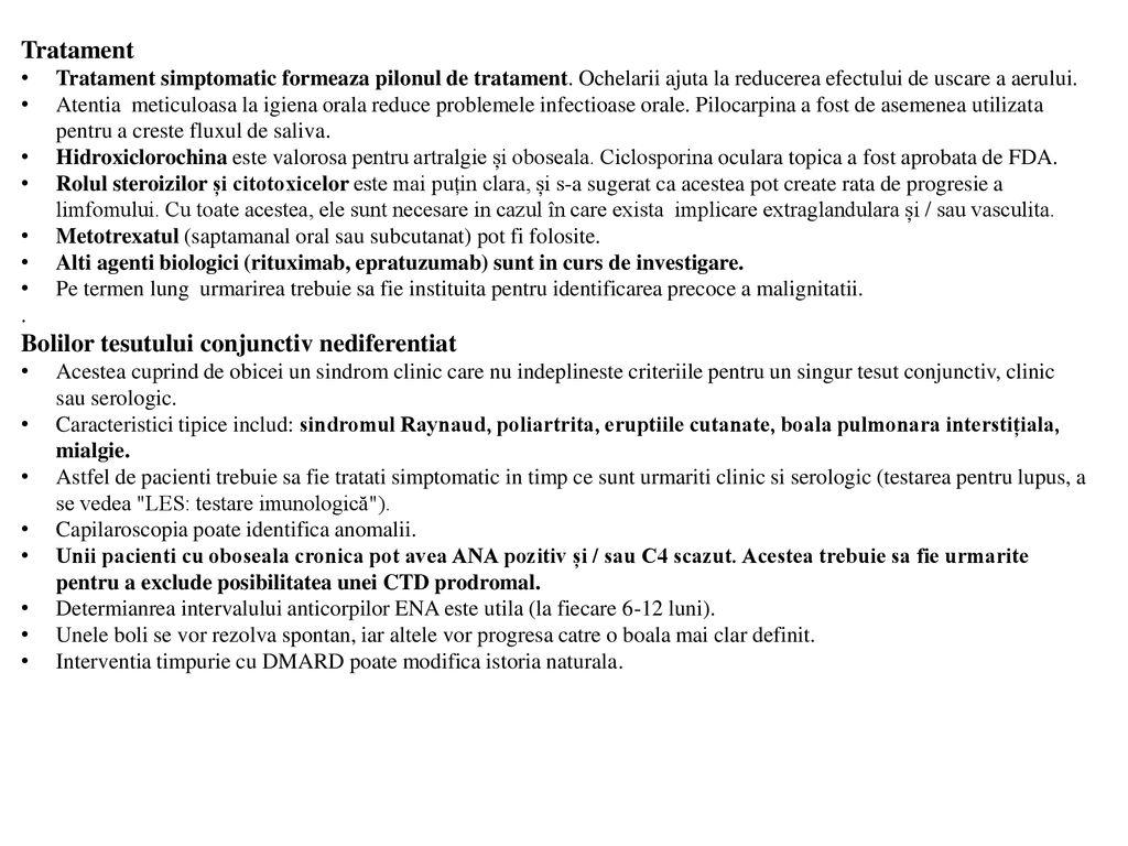 simptome ale bolii sistemice a țesutului conjunctiv