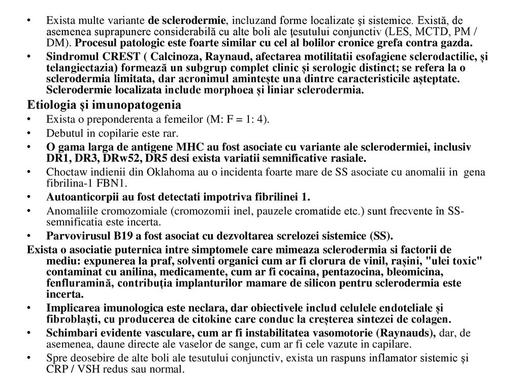 Sclerodermia - forme, simptome (pete), fotografie, tratament și medicamente - Vasculita November