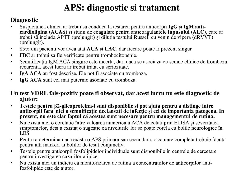 APS: diagnostic si tratament