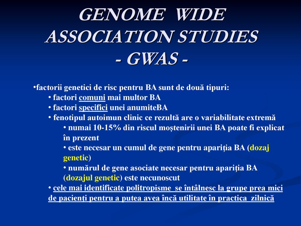 GENOME WIDE ASSOCIATION STUDIES - GWAS -