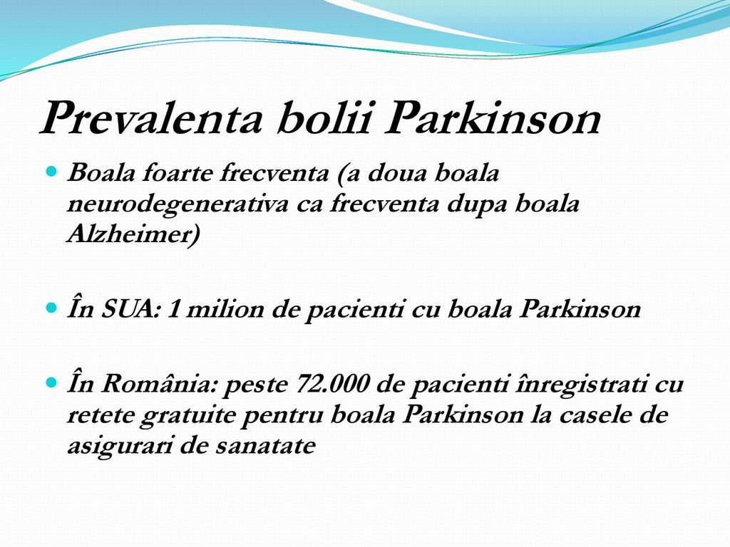 Prevalenta bolii Parkinson