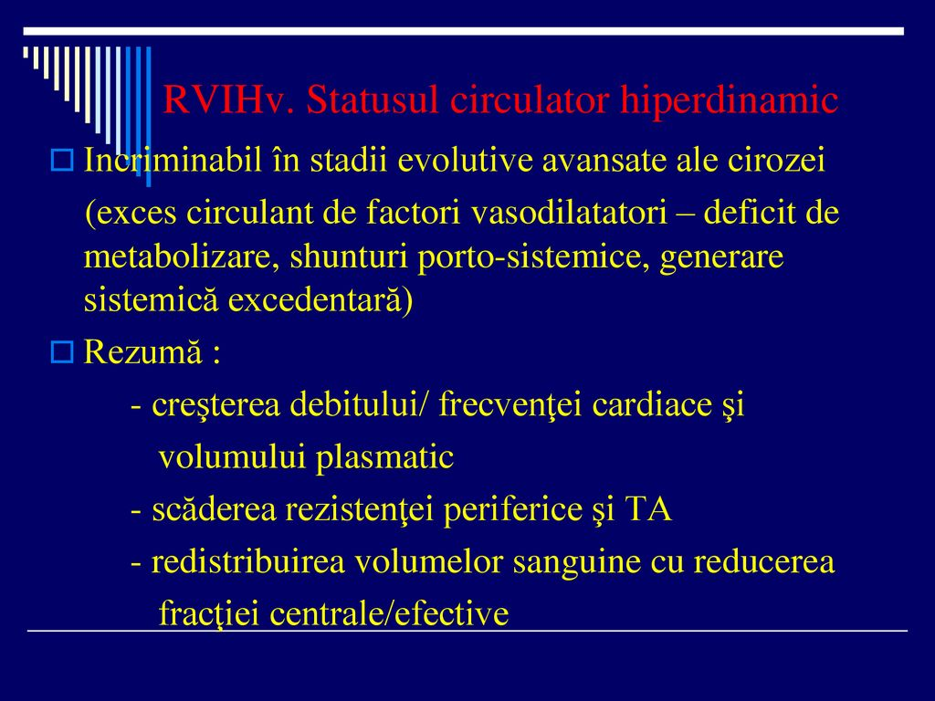 RVIHv. Statusul circulator hiperdinamic