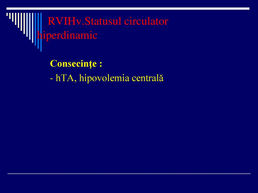 RVIHv.Statusul circulator hiperdinamic