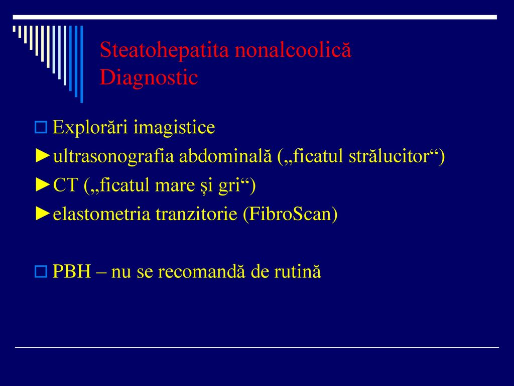 Steatohepatita nonalcoolică Diagnostic