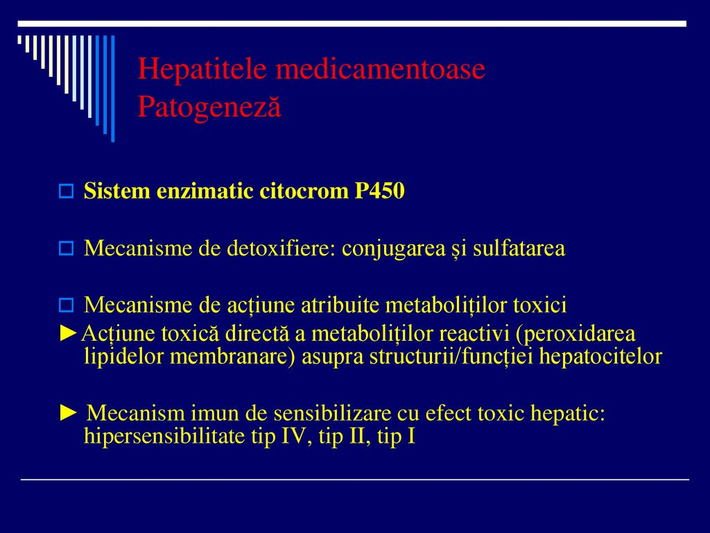 Hepatitele medicamentoase Patogeneză