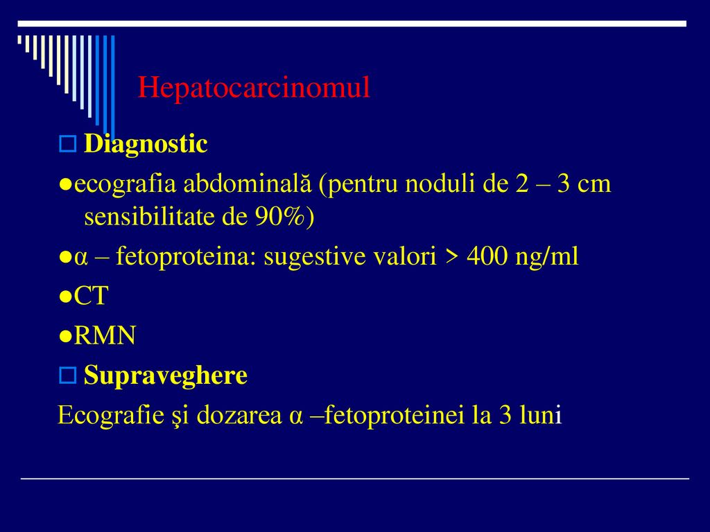 Hepatocarcinomul Diagnostic