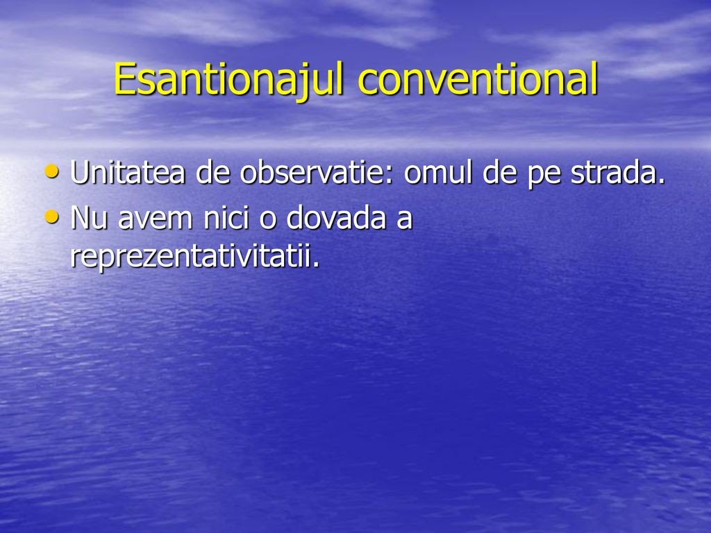 Esantionajul conventional