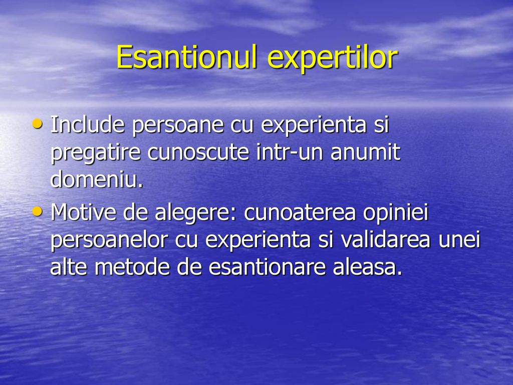 Esantionul expertilor