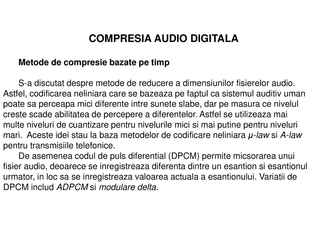 COMPRESIA AUDIO DIGITALA