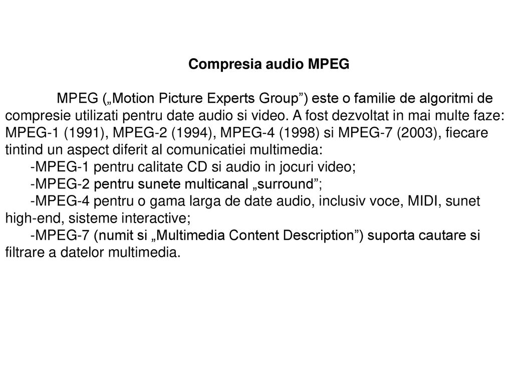 Compresia audio MPEG