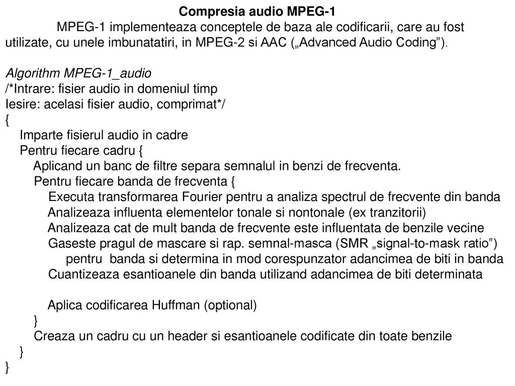 Compresia audio MPEG-1