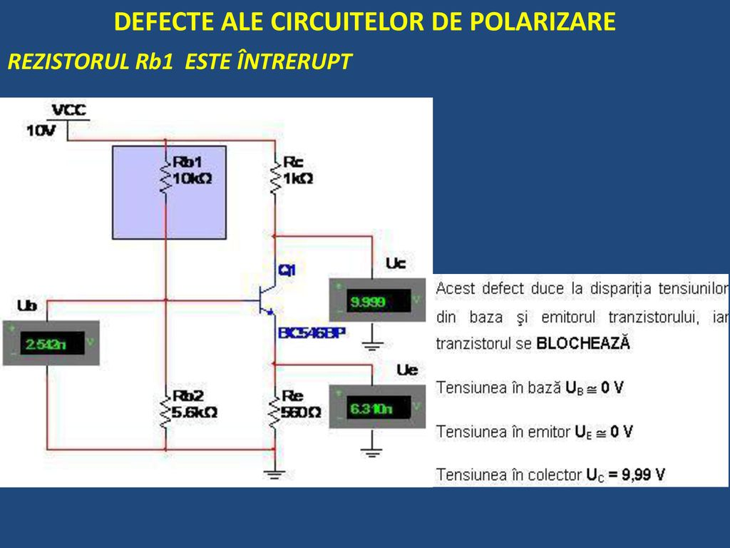 DEFECTE ALE CIRCUITELOR DE POLARIZARE