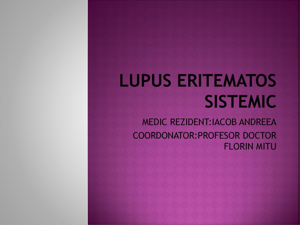 LUPUS ERITEMATOS SISTEMIC