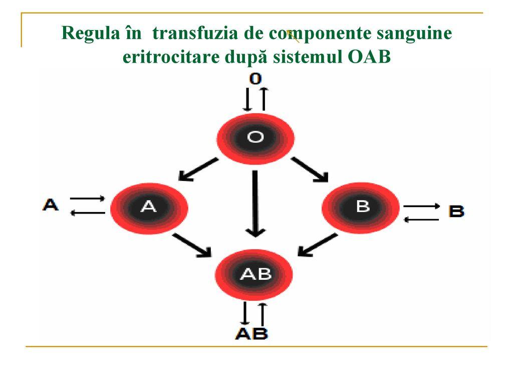 regula transfuziei de sange