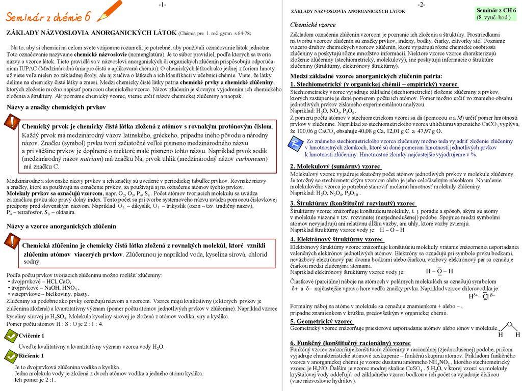 e36fd260a Názvy a značky chemických prvkov - ppt κατέβασμα