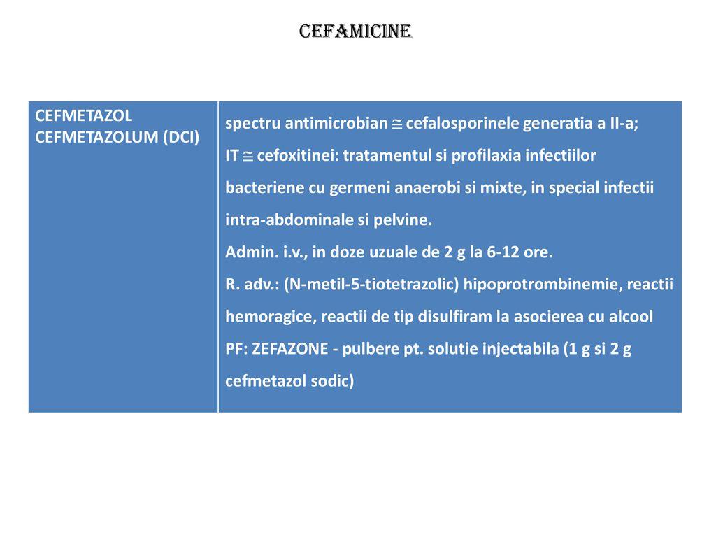 cefalosporine pentru tratamentul articular)
