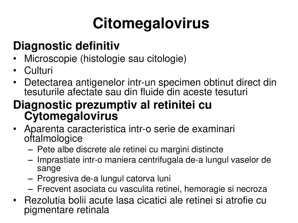 Citomegalovirus Diagnostic definitiv