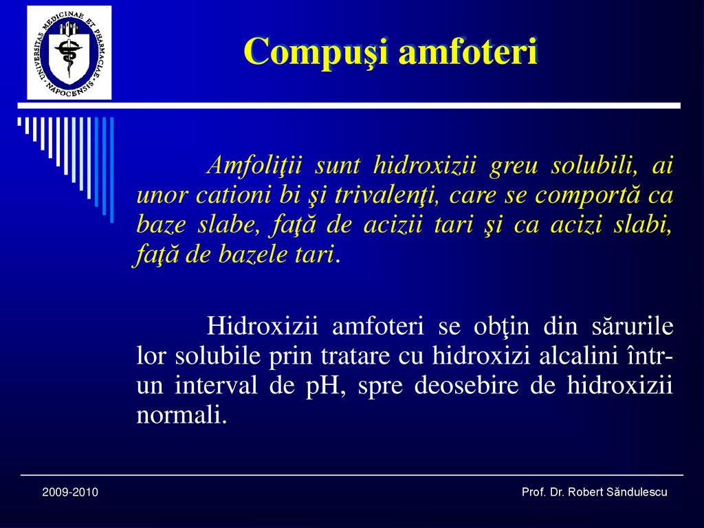 Chimie Analitică Calitativă COMPUŞI AMFOTERI - ppt κατέβασμα